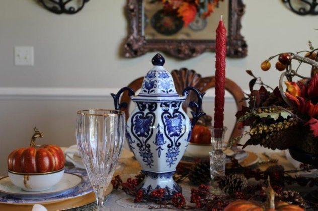 Belle Bleu Interiors Fall Tablescape 4