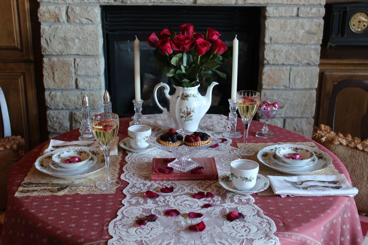 dinner valentines had setting created s home day we fresh with for a items added two at valentine i flowers just already and table